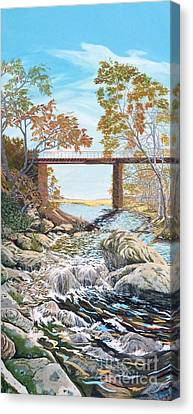 Bennington Riverbed Canvas Print