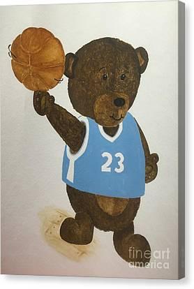 Benny Bear Basketball  Canvas Print by Tamir Barkan