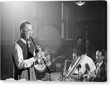 Rehearsing Canvas Print - Benny Goodman Orchestra  by The Harrington Collection