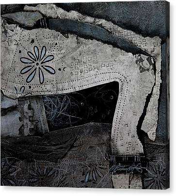 Contrast Canvas Print - Bent Arm Or Two Legs by Laura Lein-Svencner