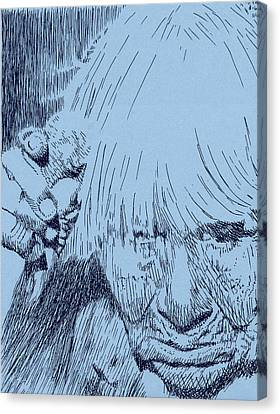 Bent But Unbroken Canvas Print by Robbi  Musser