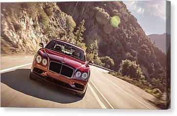 Flying Canvas Print - Bentley Flying Spur V8 S by Emma Brown