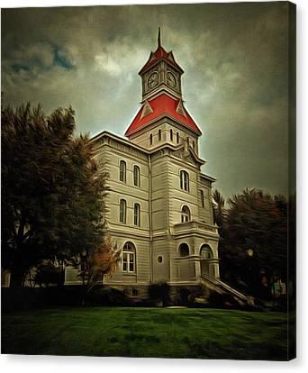 Benton County Courthouse Canvas Print by Thom Zehrfeld