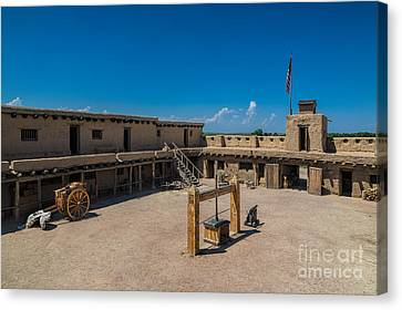 Bent's Fort Courtyard Canvas Print by Jon Burch Photography