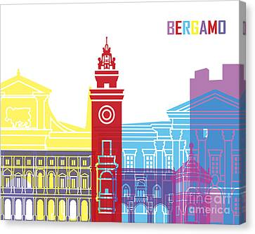 Bergamo Skyline Pop Canvas Print by Pablo Romero