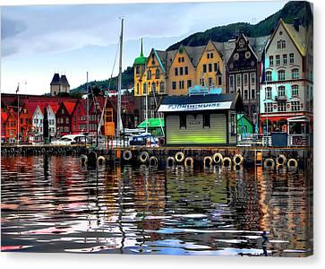 Bergen Colors Canvas Print by Jim Hill