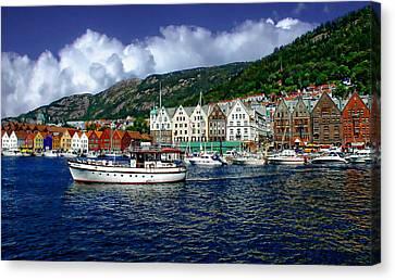 Bergen - Norway Canvas Print by Anthony Dezenzio