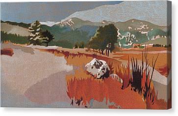 Bergen Peak First Snow Canvas Print