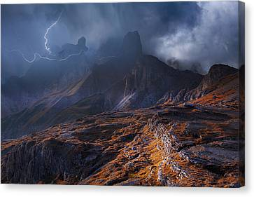 Bergwetter Canvas Print by Franz Schumacher