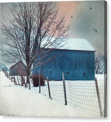 Litchfield County Canvas Print - Berkshire Winter Blues by Expressive Landscapes Fine Art Photography by Thom