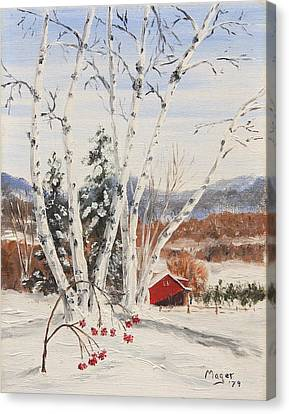 Berkshire Winter II Canvas Print by Alan Mager