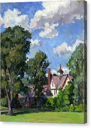 Berkshires Cottage Canvas Print by Thor Wickstrom