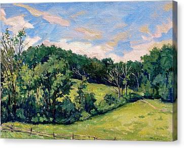 Berkshires Hillside Canvas Print by Thor Wickstrom