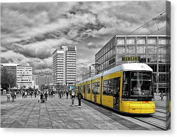Berlin Alexanderplatz Edition Canvas Print by Joachim G Pinkawa