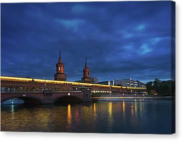 Ubahn Canvas Print - Berlin Bridge by Anton Averin