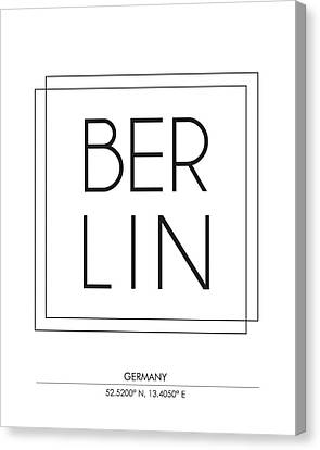 Berlin City Print With Coordinates Canvas Print
