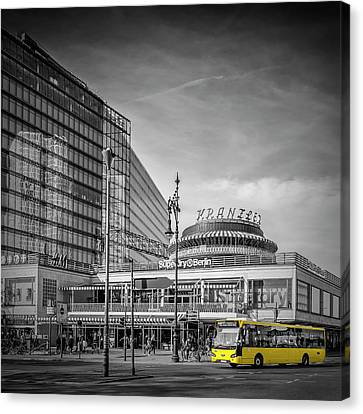 Berlin City-west Canvas Print by Melanie Viola