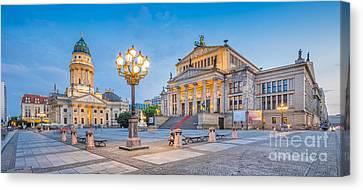 Berlin Gendarmenmarkt Square At Dusk Canvas Print