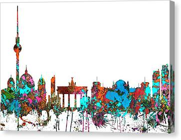 Berlin Germany Skyline  Canvas Print by Marlene Watson