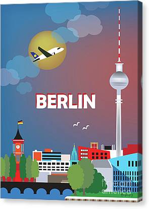 Berlin Germany Canvas Print - Berlin Germany Vertical Scene by Karen Young