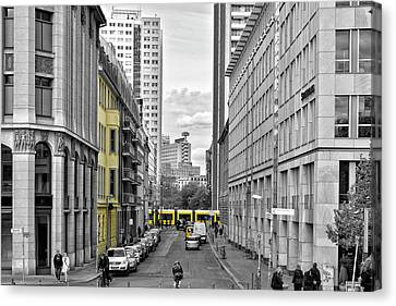 Berlin Impressions Iv Canvas Print by Joachim G Pinkawa