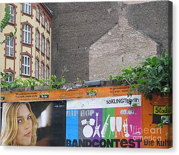 Canvas Print featuring the photograph Berlin New And Old by Erik Falkensteen