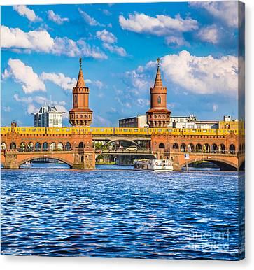 Ubahn Canvas Print - Berlin Oberbaum Bridge by JR Photography