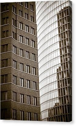 Bahn Canvas Print - Berlin Potsdamer Platz Architecture by Frank Tschakert