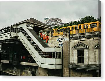 Bahn Canvas Print - Berlin S-bahn Station by Pati Photography