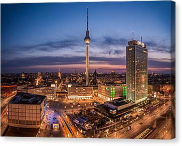 Berlin - Skyline Alexanderplatz  Canvas Print by Jean Claude Castor