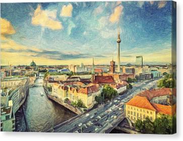 Berlin Skyline Canvas Print by Taylan Apukovska