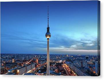 Canvas Print - Berlin Television Tower by Marc Huebner
