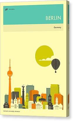 Berlin Travel Poster Canvas Print by Jazzberry Blue