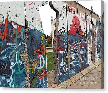 Berlin Wall Section At Westminster College Canvas Print