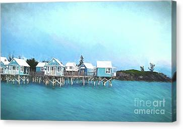 St George Canvas Print - Bermuda Coastal Cabins by Luther Fine Art