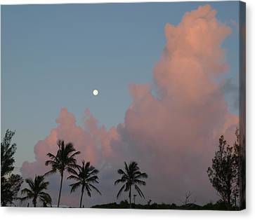 Bermuda Morning Moon Canvas Print
