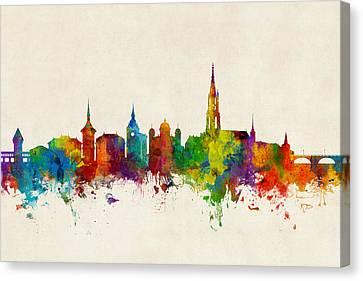 Bern Switzerland Skyline Canvas Print by Michael Tompsett