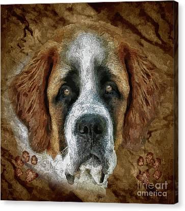 Animal Artist Canvas Print - Bernard by Shafawndi Heartski