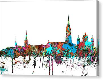 Berne Switzerland Skyline Canvas Print by Marlene Watson
