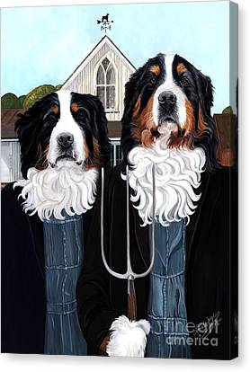 Overalls Canvas Print - Berner Gothic by Liane Weyers
