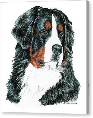 Bernese Mountain Dog Canvas Print by Kathleen Sepulveda