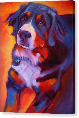 Bernese Mountain Dog Canvas Print by Kaytee Esser