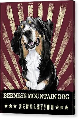 Canvas Print - Bernese Mountain Dog Revolution by John LaFree