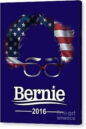 Politicians Canvas Print - Bernie Sanders 2016 by Marvin Blaine