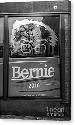 Bernie Sanders Claremont New Hampshire Headquarters Canvas Print by Edward Fielding