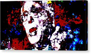 Carter House Canvas Print - Bernie Sanders Paint Splatter 2a by Brian Reaves