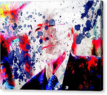 Carter House Canvas Print - Bernie Sanders Paint Splatter by Brian Reaves