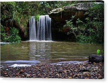 Canvas Print featuring the photograph Berowra Waterfall by Werner Padarin