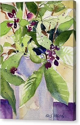 Berry Bouquet Canvas Print by Kris Parins