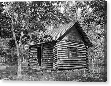 Log Cabin Canvas Print - Berry College Martha Berry Cabin by University Icons